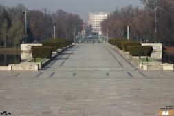 Aleea principală din Parcul Carol
