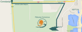 Harta parcului de aventuri de la Neptun