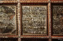 Tavan casetat. Aceasta e din 1628