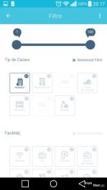 Filtre de căutare la aplicația HotelScan