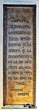 Vorbele lui Grigore Ureche pe Borna de hotar simbolică (Focșani)