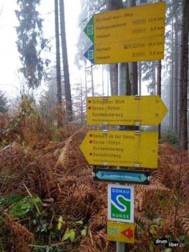 Hărți, panouri de informare și indicatoare turistice