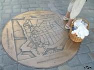 Harta orașului, pe jos, la vedere