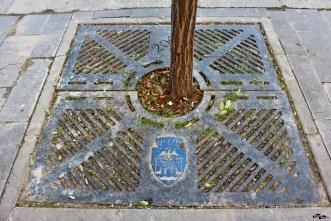 Stema orașului, cetatea, acvila, semiluna, coroana, Dunărea