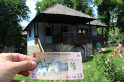 Casa asemănătoare cu cea de pe bancnota de 10 lei, Muzeul Național al Satului București