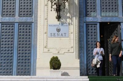Intrarea în Senatul României