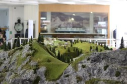 Diorama cu trenuri