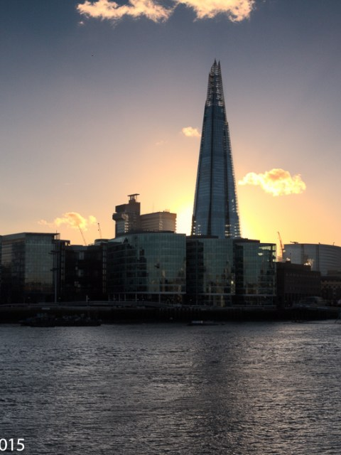 Shard at sunset