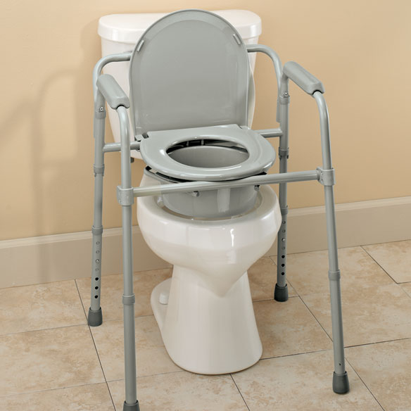 Folding Commode   Collapsible Commode   Steel Commode   Easy Comforts Folding Commode
