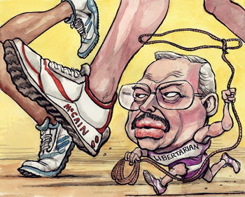 Economist political cartoon of Bob Barr