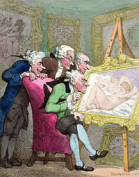 """Connoisseurs"" by Thomas Rowlandson"