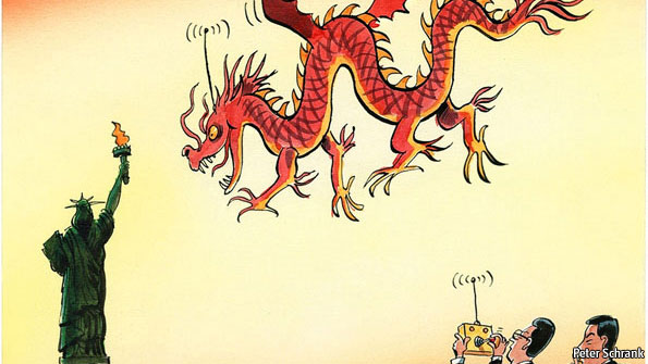 """The Beijing consensus is to keep quiet"". Hình minh họa của tờ The Economist"