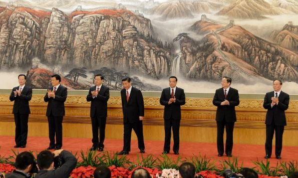 New party leaders receiving applause after an impromptu Riverdance number