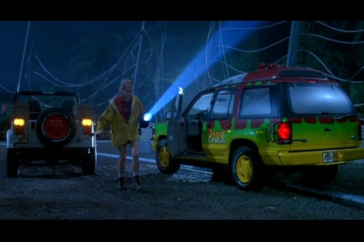 The 100 Greatest Movie and TV Cars - Jurassic Park Ford Explorer