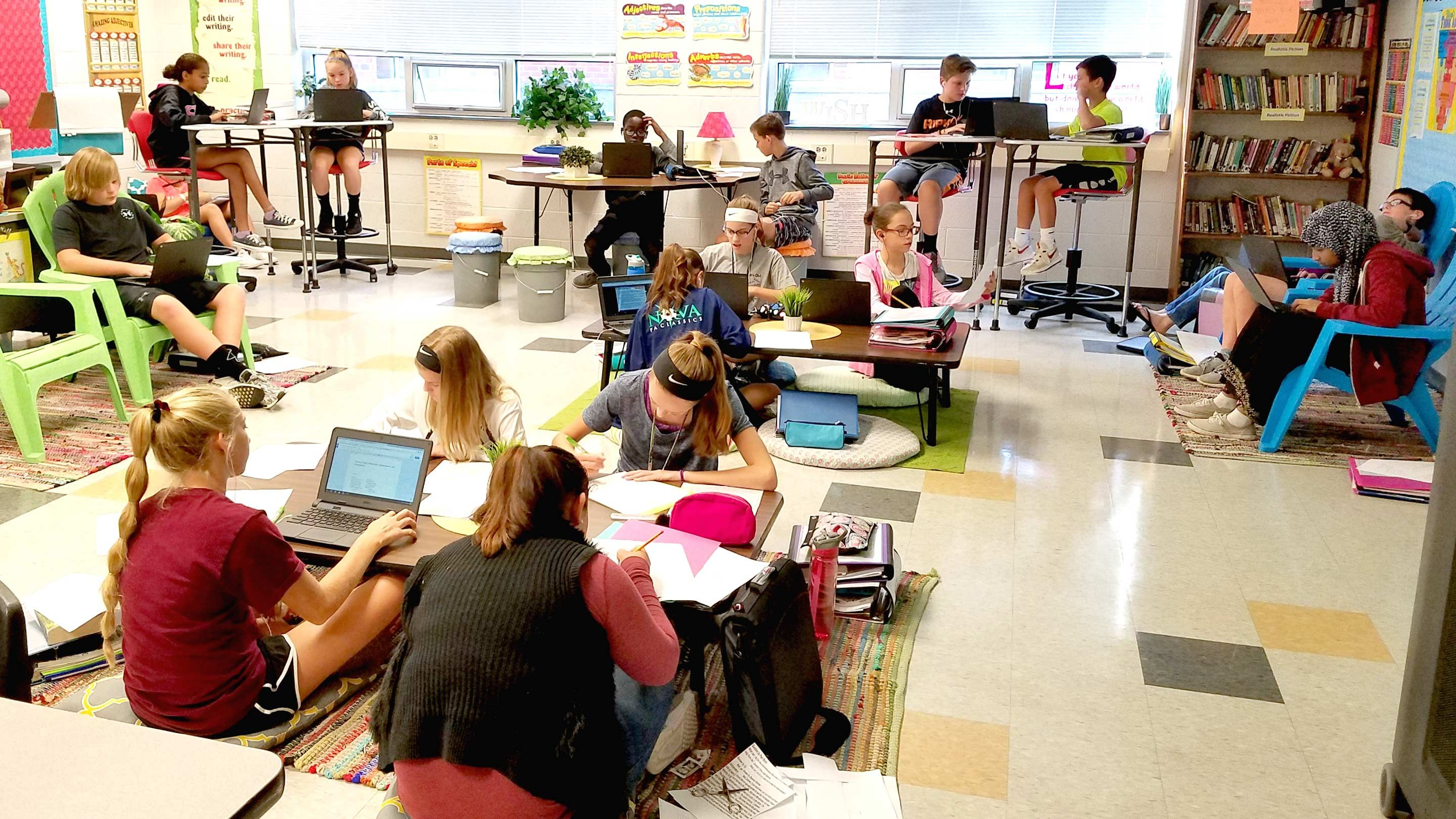 A 7th Grade Teacher S Shift To Flexible Seating