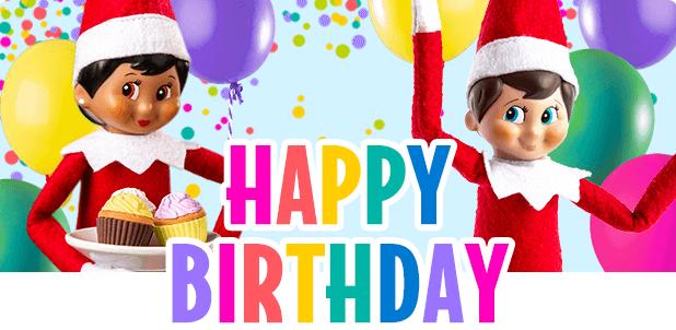 happy birthday the elf on the shelf