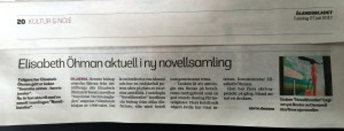 Novellhotellet recension i Ölandsbladet