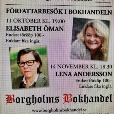 Författarbesök i Borgholms Bokhandel!