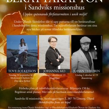 Kom till vår Berättarafton i Missionshuset – toppförfattare gästar!