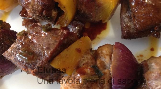 Spiedini di carne alle spezie