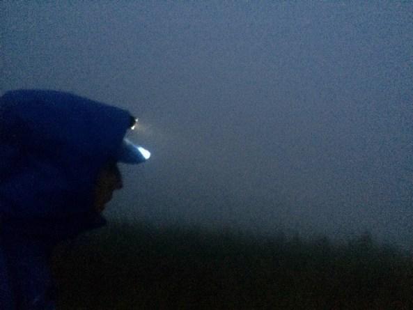 Rain and dark
