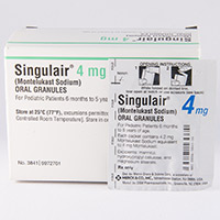 SINGULAIR ORAL GRANULES (Montelukast) dosage, indication, interactions ...