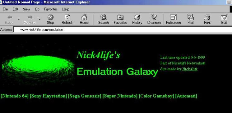 Najava za prvi Emulation Galaxy sajt