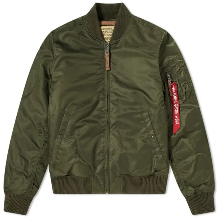 Alpha Industries MA-1 VF 59 Flight Jacket  Dark Green  1