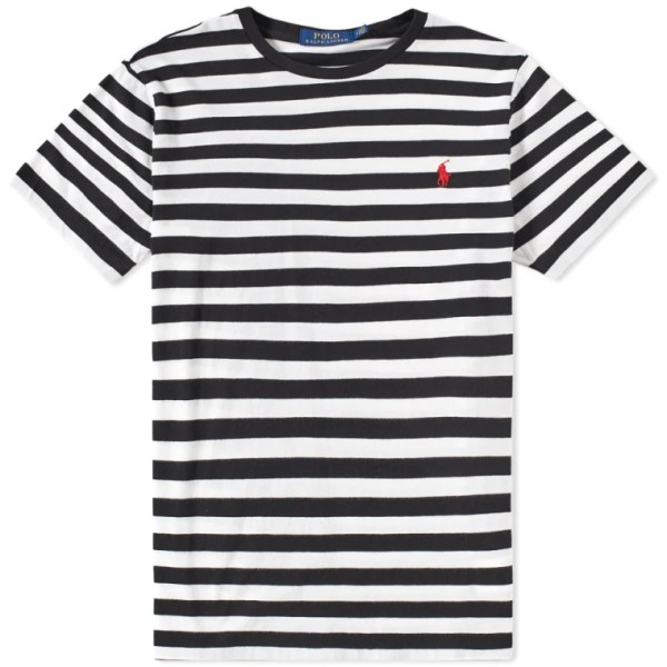 Polo Ralph Lauren Medium Stripe Tee (Black & White) | END.