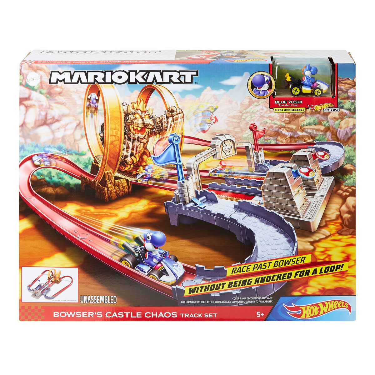 Mario Kart Hot Wheels Bowsers Castle Chaos Playset