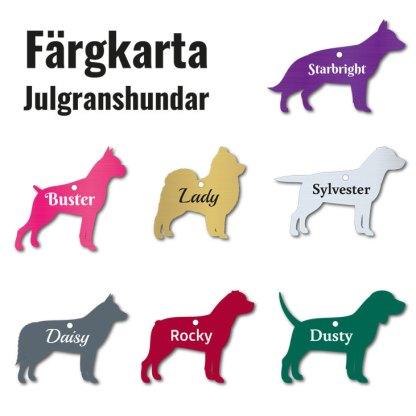 Julgranshund - Färgkarta