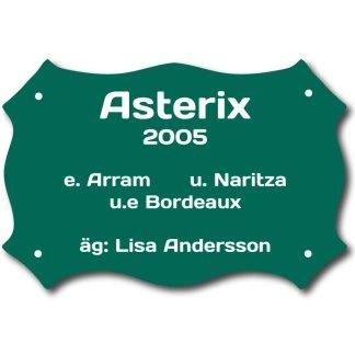 Boxskylt Grön/Vit Form 6