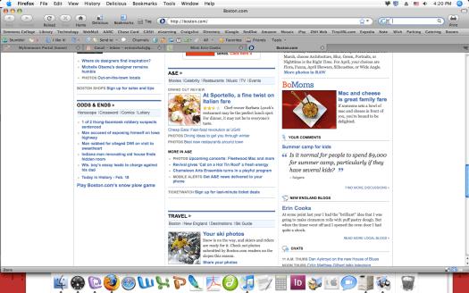 Screenshot of Boston.Com