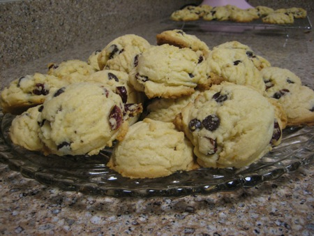 Cranberry Orange Dark Chocolate Cookies