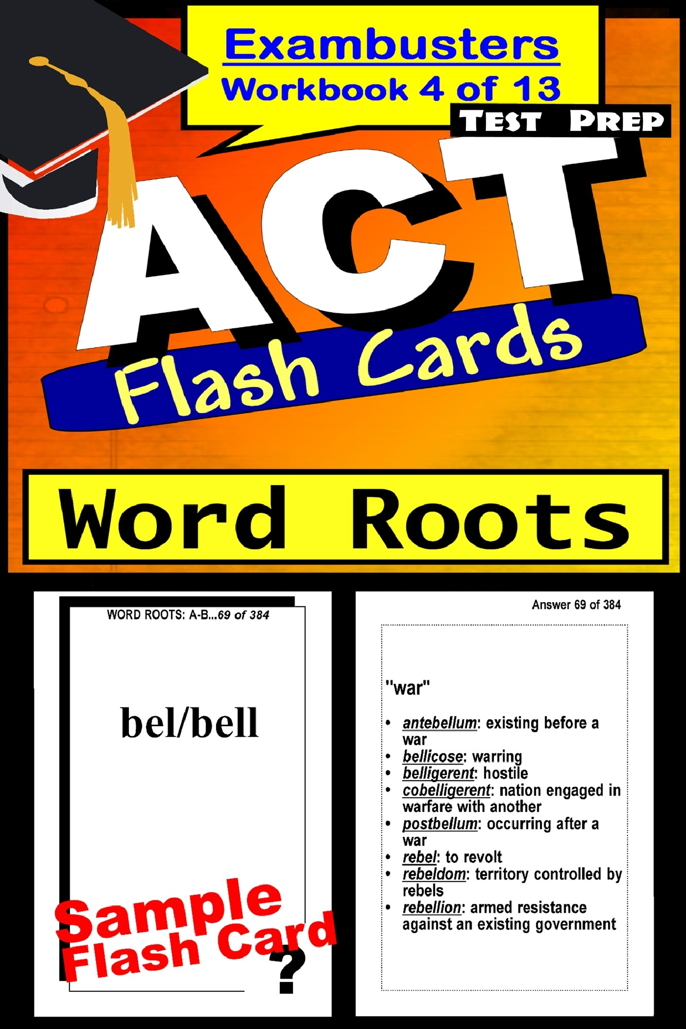 Act Test Prep Word Roots Review Exambusters Flash Cards