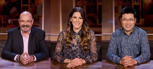 Massimo Capra, Eden Grinshpan and Antonio Park join the judging panel on season two of 'Chopped Canada.' (Food Network Canada)