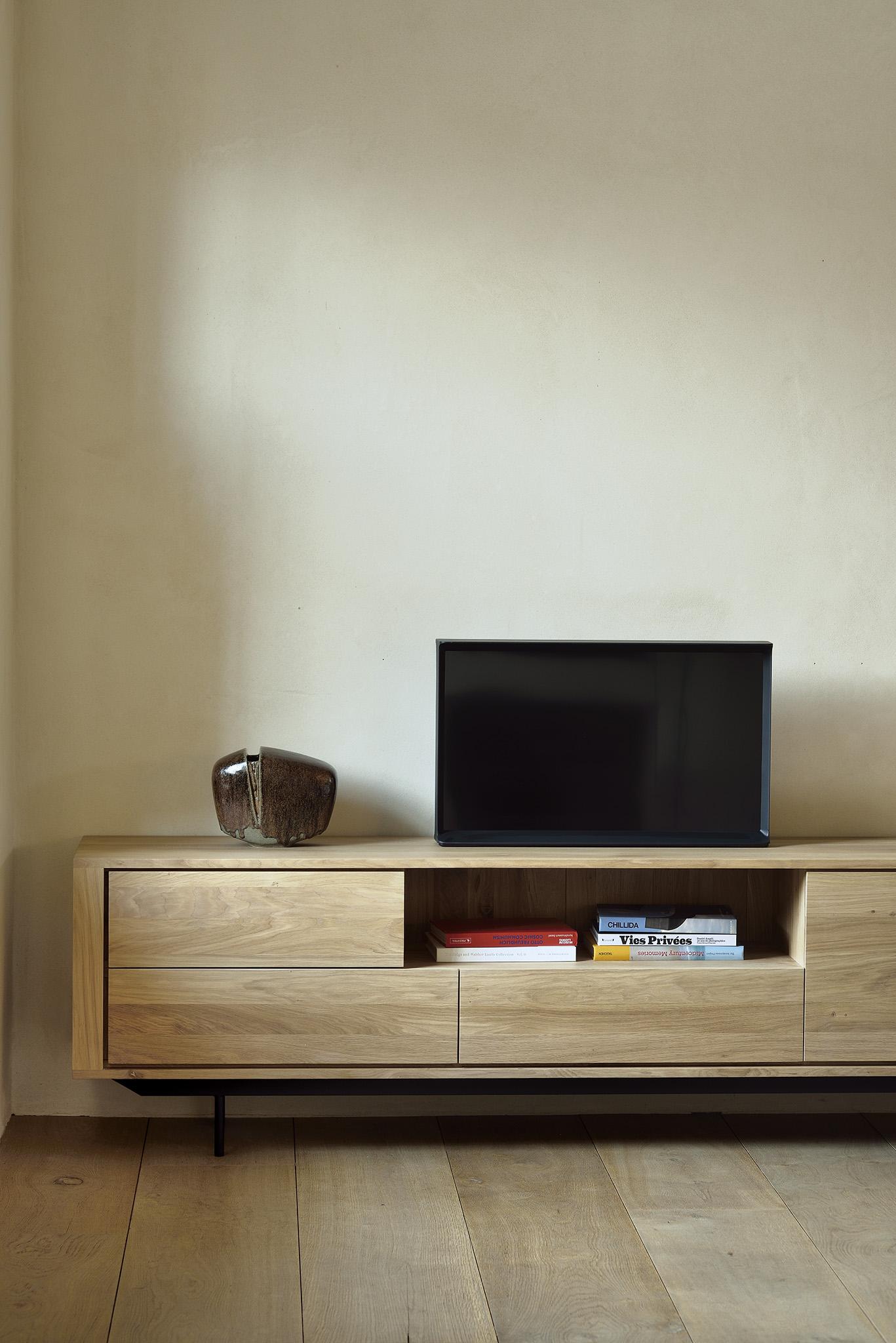 meuble tv shadow en chene pieds en
