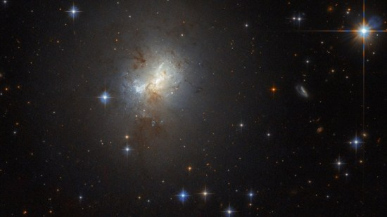 Hubble observes tiny galaxy with big heart
