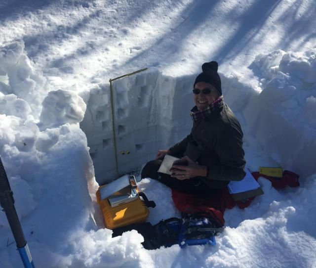 Image Willem Van Leeuwen A University Of Arizona Professor Of Natural Resources And The Environment Measures Snowpack In A Snow Pit Along Arizonas