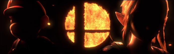 Bros Smash Logo Flaming Super
