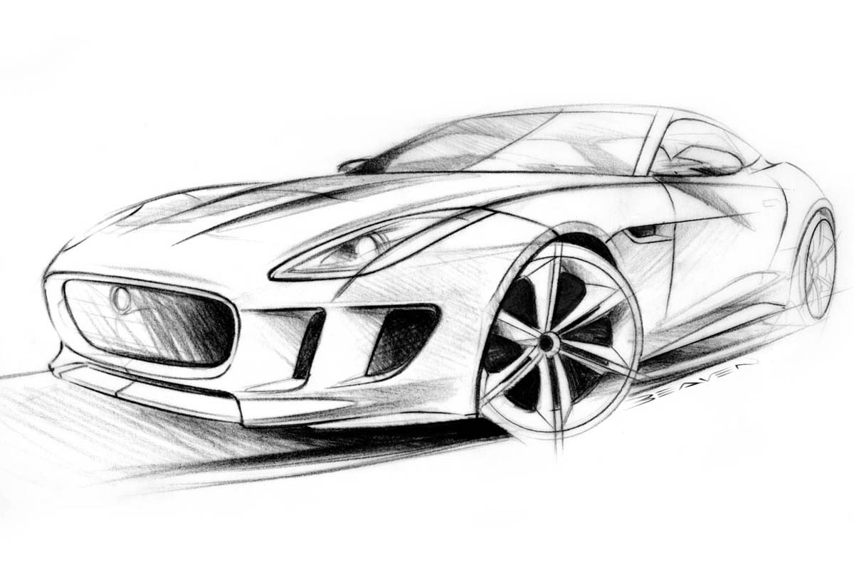 Exclusive Jaguar C X16 Design Sketches