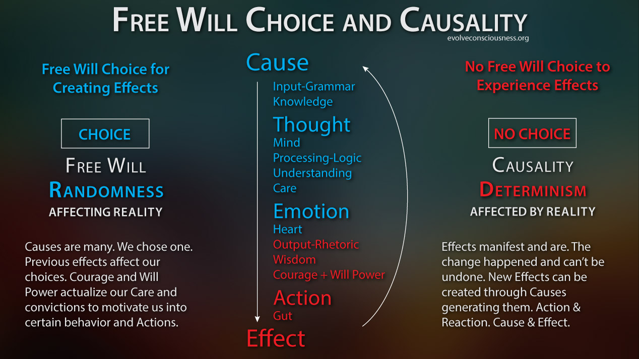 Free Will Choice and Causal Determinism