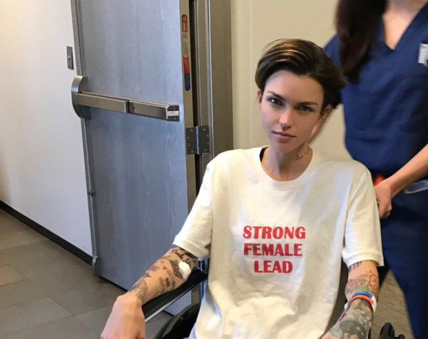 Ruby Rose in a Wheelchair After Spine Surgery | ExtraTV.com