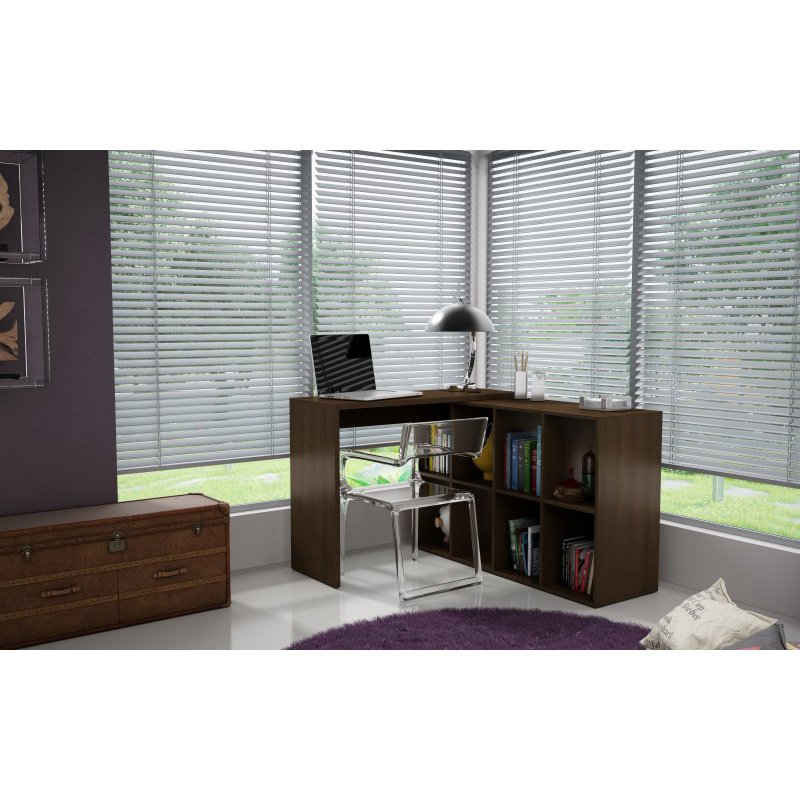 Accentuations by Manhattan Comfort Taranto Cubby Desk with ... on Corner Sconce Shelf Tray id=98110