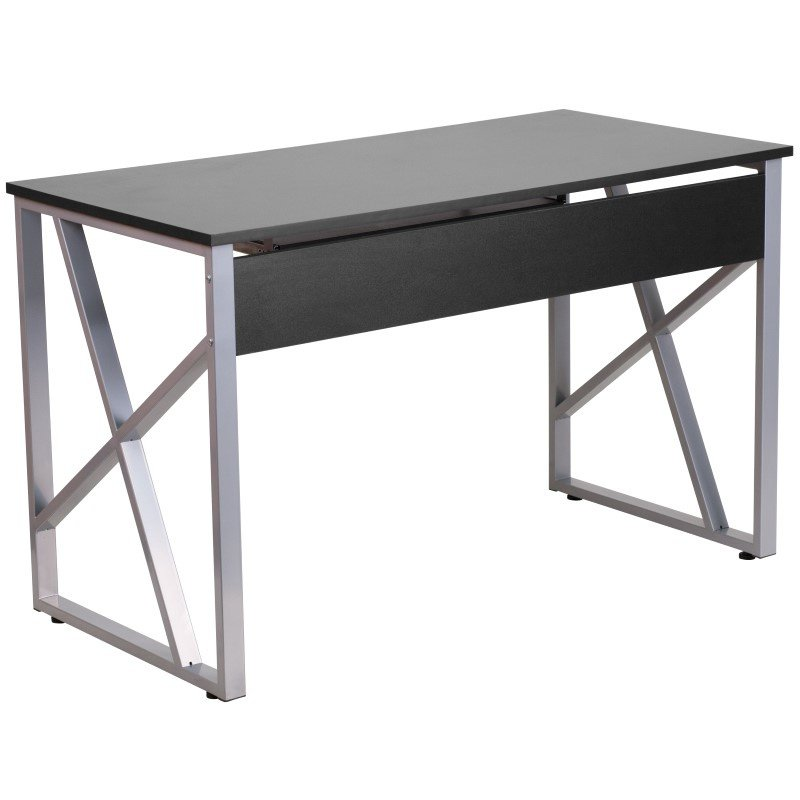 Flash Furniture Black Computer Desk with Pull-Out Keyboard ... on Corner Sconce Shelf Tray id=91661