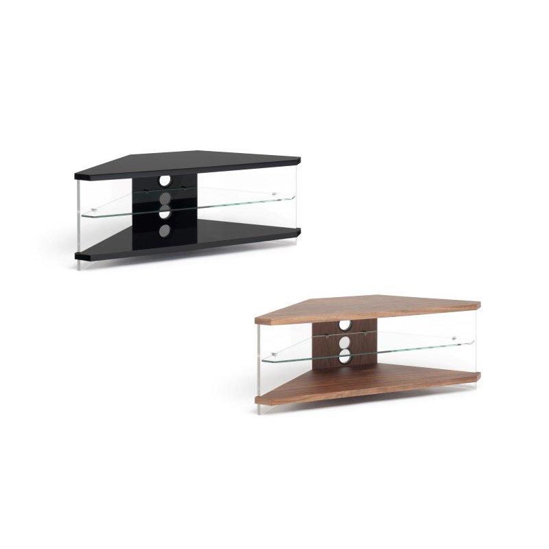 Techlink Air Corner TV Stand with High Gloss Black Frame ... on Corner Sconce Shelf Tray id=95818
