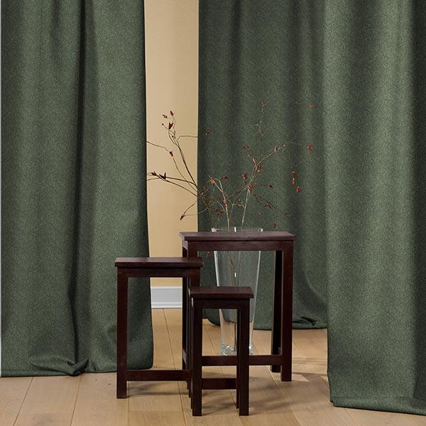 tissu de rideau thermique manto vert fonce echantillon