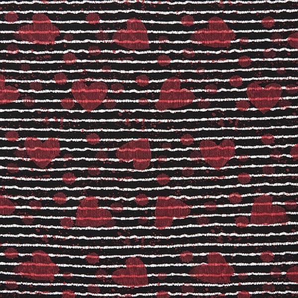 Tricot fin à rayures et touches de couleurs – noir