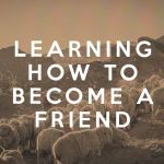 Learning how to become a Friend (1 Samuel)