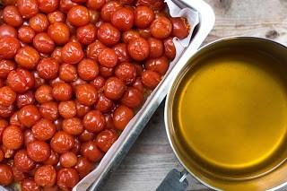 Ugnsbakade tomater och spad Farbror Grön